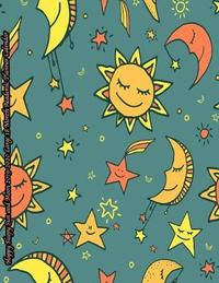Happy Sleepy Sun and Moon 2019-2020 Large 18 Month Academic Planner Calendar by Laura's Cute Planners