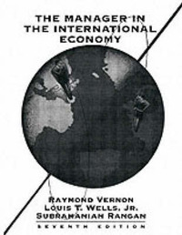 The Manager in the International Economy by Raymond Vernon image
