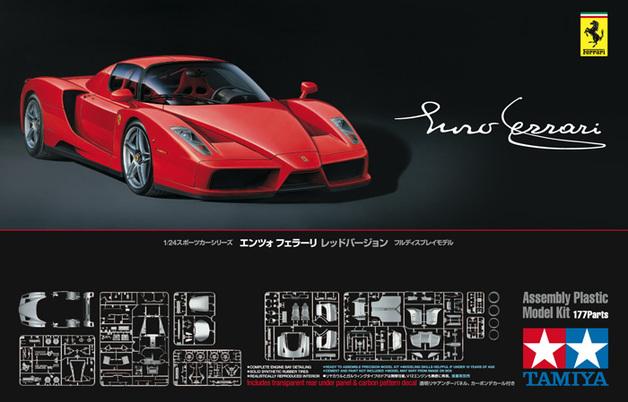 Tamiya: 1/24 Enzo Ferrari Rosso Corsa (Red) - Model Kit