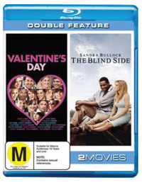 Valentine's Day (2010) / The Blind Side - Double Feature (2 Disc Set) on Blu-ray