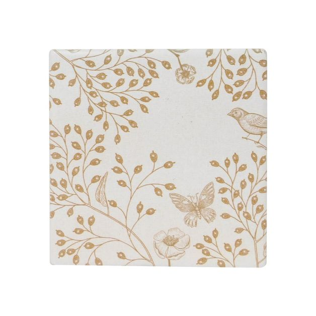 Splosh: Full Bloom Light Gold Ceramic Coaster