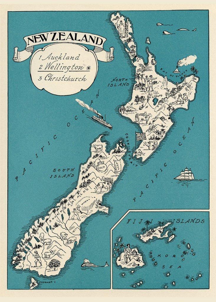 Madam Treacle: New Zealand 1930 Multi-Purpose Card image