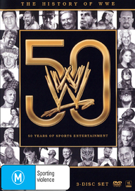 The History of WWE: 50 Years of Sports Entertainment on DVD