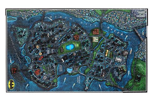 Batman Gotham City 3d Cityscape Puzzle Toy At
