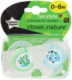 Closer to Nature Fun Style Soother 0-6 Months (Crocodile & Monkey)