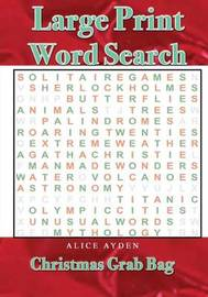 Large Print Word Search by Alice Ayden image