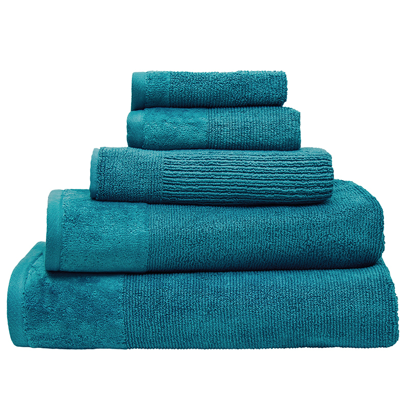Bambury Costa Cotton Bath Sheet (Teal) image