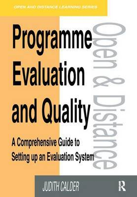 Programme Evaluation and Quality by Judith Calder image