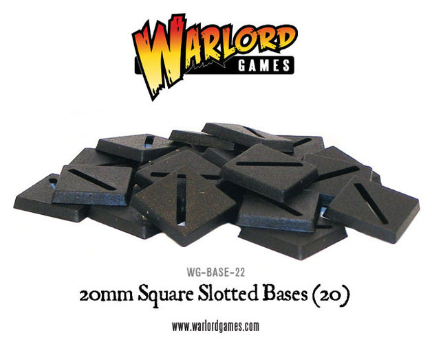 20mm Square Slotted Base (20)