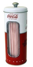 Coca-Cola Straw Holder with 50 Straws
