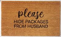 Natural Fibre Doormat - Please Hide My Packages image