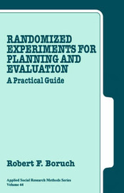 Randomized Experiments for Planning and Evaluation by Robert F. Boruch image