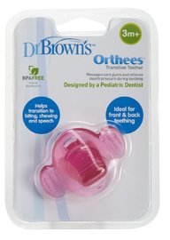 Dr Brown's Orthees Transition Teether (Pink)