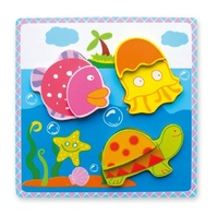 VIGA Wooden Toys: Chunky Sea Animals Puzzle