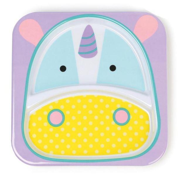 Skip Hop: Zoo Divided Plate - Unicorn