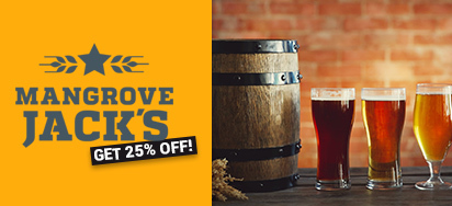 25% OFF Mangrove Jacks Brewing Tools & Kits!