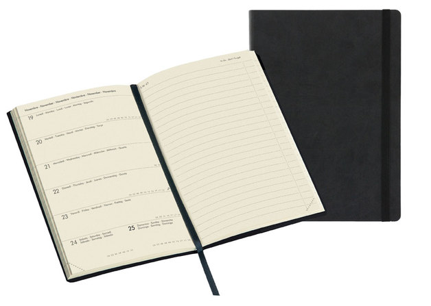 Legami: Medium Weekly 12 Month 2020 Diary with Notes - Black