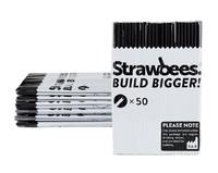 Strawbees Straws Refill Black (50pk)