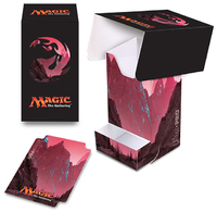 Mana 5 Mountain Full View Deck Box with Tray
