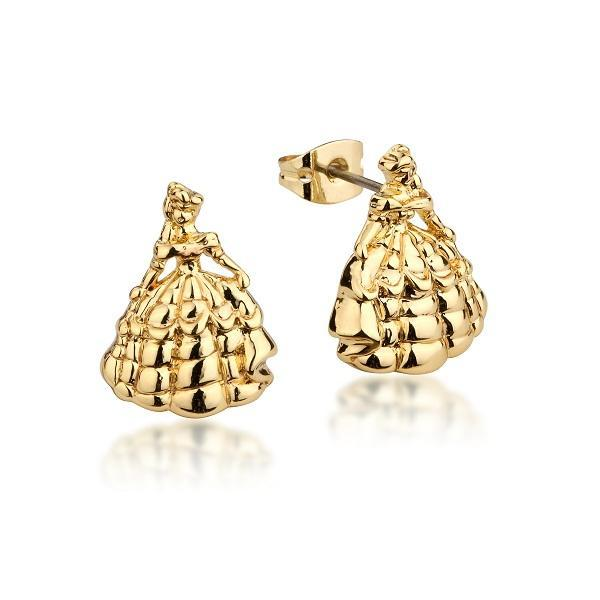 Couture Kingdom: Disney - Beauty & The Beast Princess Belle Studs (Yellow Gold)