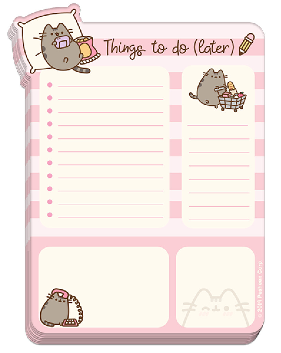 Pusheen the Cat: Sweet & Simple - Desk Pad (Things to Do) image