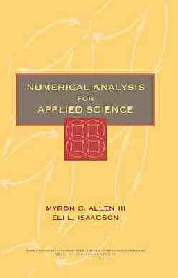 Numerical Analysis for Applied Science by Myron B. Allen image