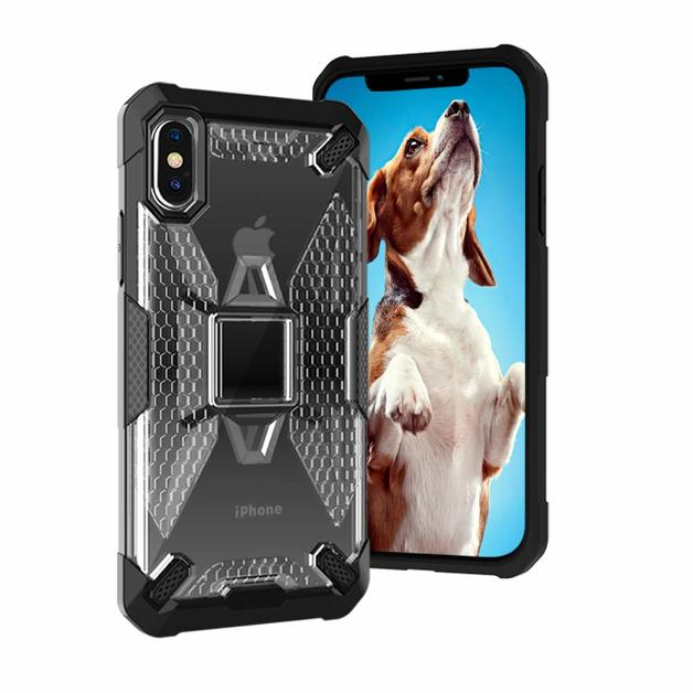 Miesherk: YY phone case for iPhone XS /X - Grey+Black