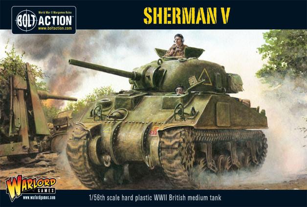 British Army - Sherman V Medium Tank (Plastic)
