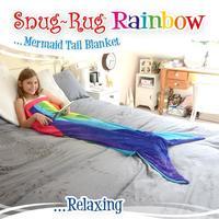 Snug-Rug Rainbow Mermaid Tail Blanket image