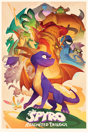 Spyro Maxi Poster - Animated Style (920)