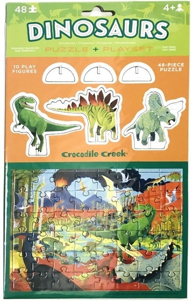Crocodile Creek: Pop-Out Puzzle & Playset - Dinosaurs