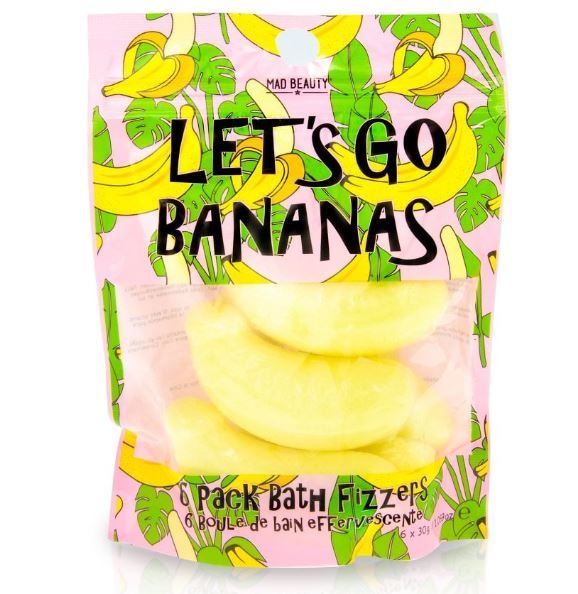 Mad Beauty: Banana Bath Fizzers (6 Pack)