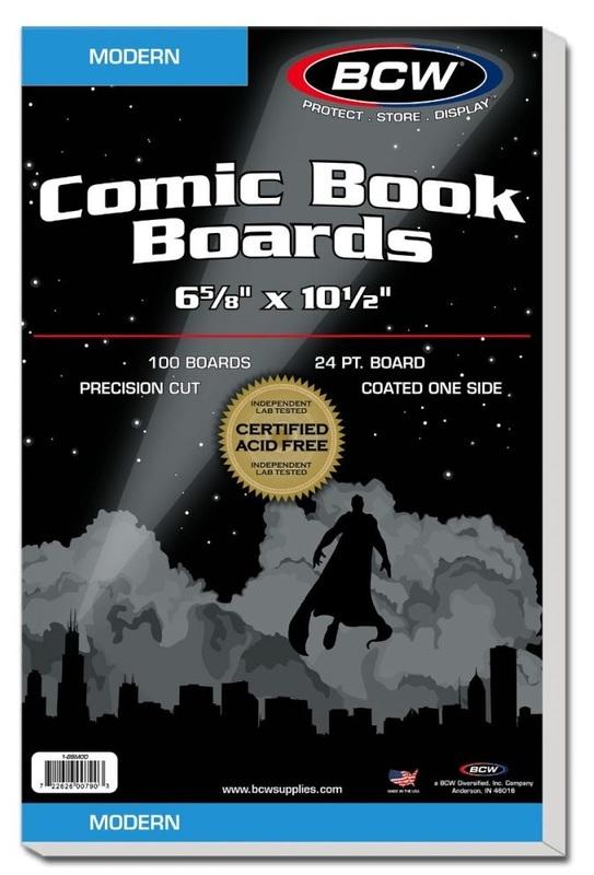 "BCW: Comic Backing Boards - Modern (6.6"" x 10.5"")"