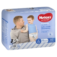 Huggies: Ultra Dry Boy Nappies - Size 6 (30 Pack)