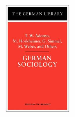 German Sociology by Theodor W Adorno image