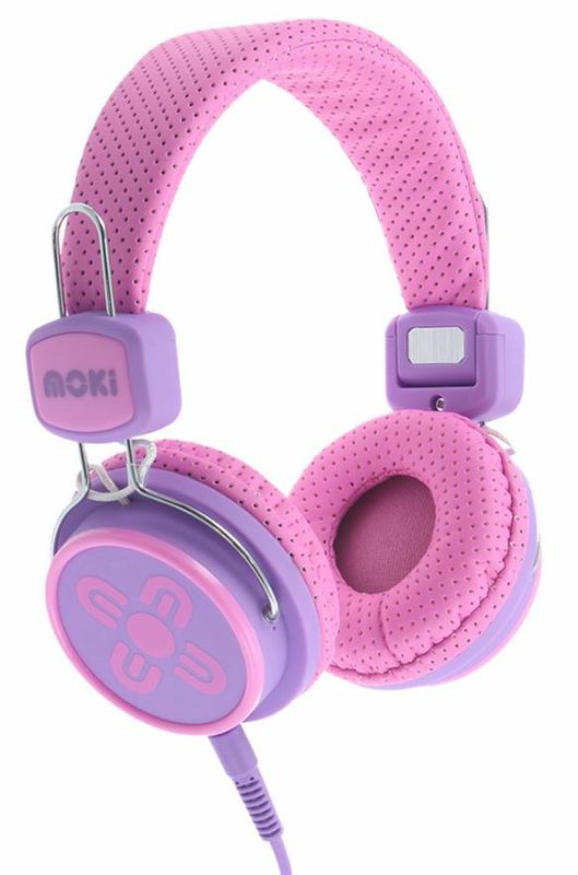 Moki Kids Safe Headphones - Pink/Purple