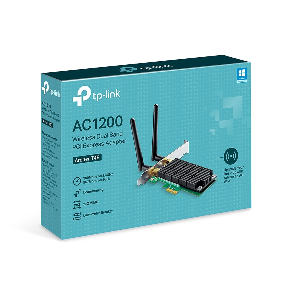 TP-LINK Archer T4E-AC1200 Wireless Dual Band PCI Express Adapter image