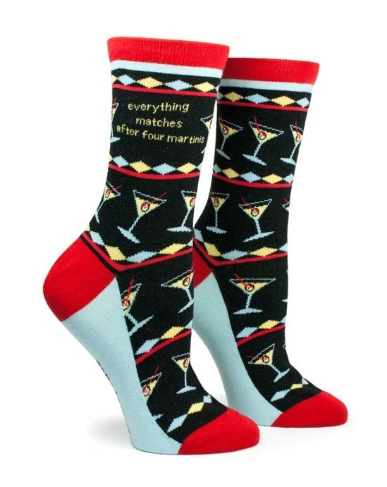 Anne Taintor: Everything Matches - Ladies Crew Socks image