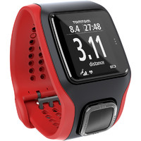 TomTom Multi-Sport Cardio Watch - White/Red + Additional Black Strap