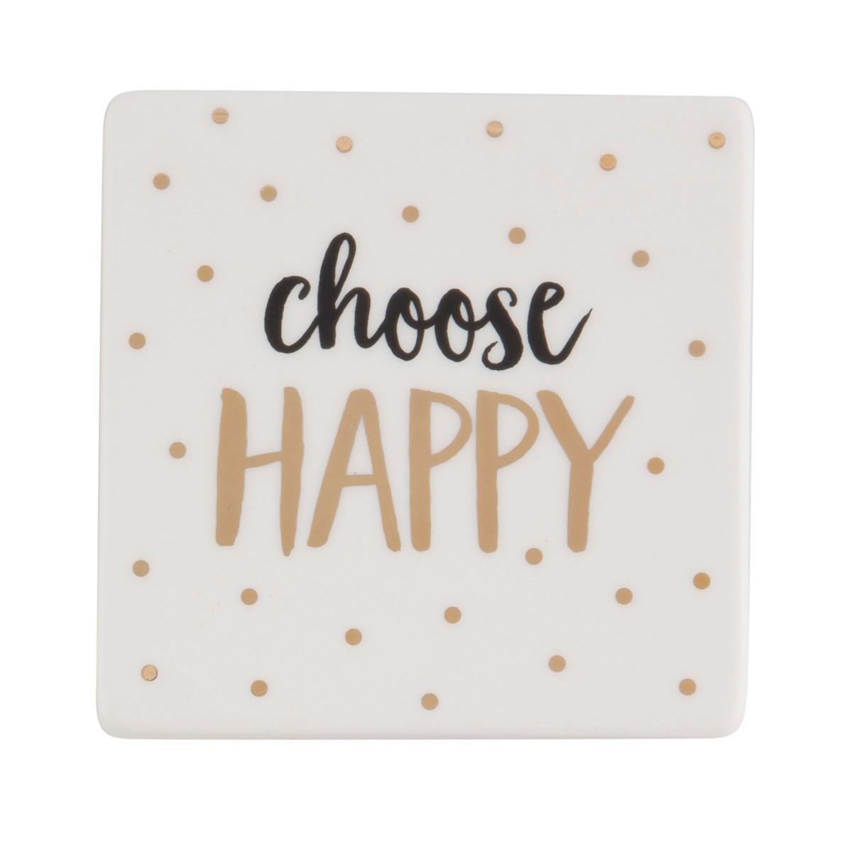 Happy Metallic Monochrome Coaster image