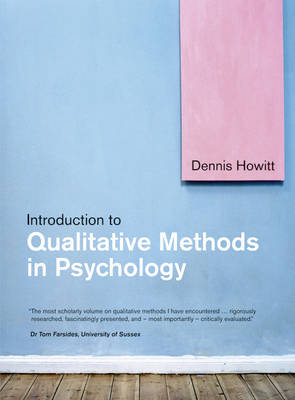 Introduction to Qualitative Methods in Psychology by Dennis Howitt image
