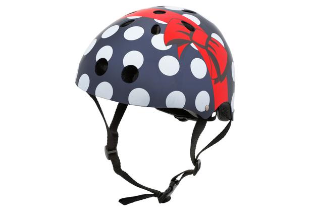 Hornit: Black Polka Dot Bike Helmet - Medium