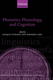 Phonetics, Phonology, and Cognition image