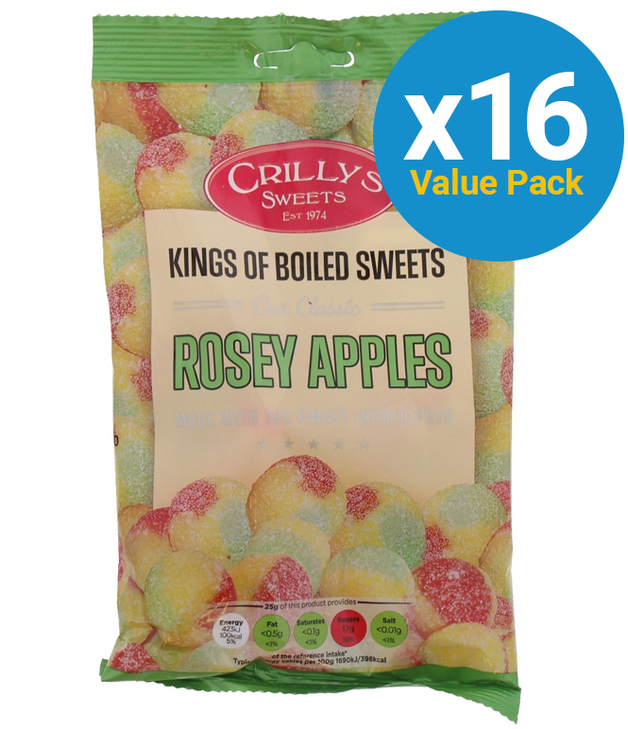 Crillys: Rosy Apples 150g (16 Pack)