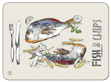 Fish and Chips Placemats (Set of 6)