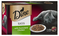 Dine Slices With Succulent Chicken (85g x 7)