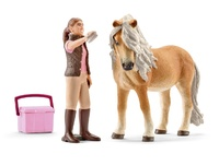 Schleich: Groom with Icelandic pony mare