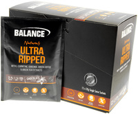 Balance Ultra Ripped Naturals Protein Sachets - Chocolate (15 x 28g)