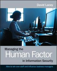Managing the Human Factor in Information Security by David Lacey image
