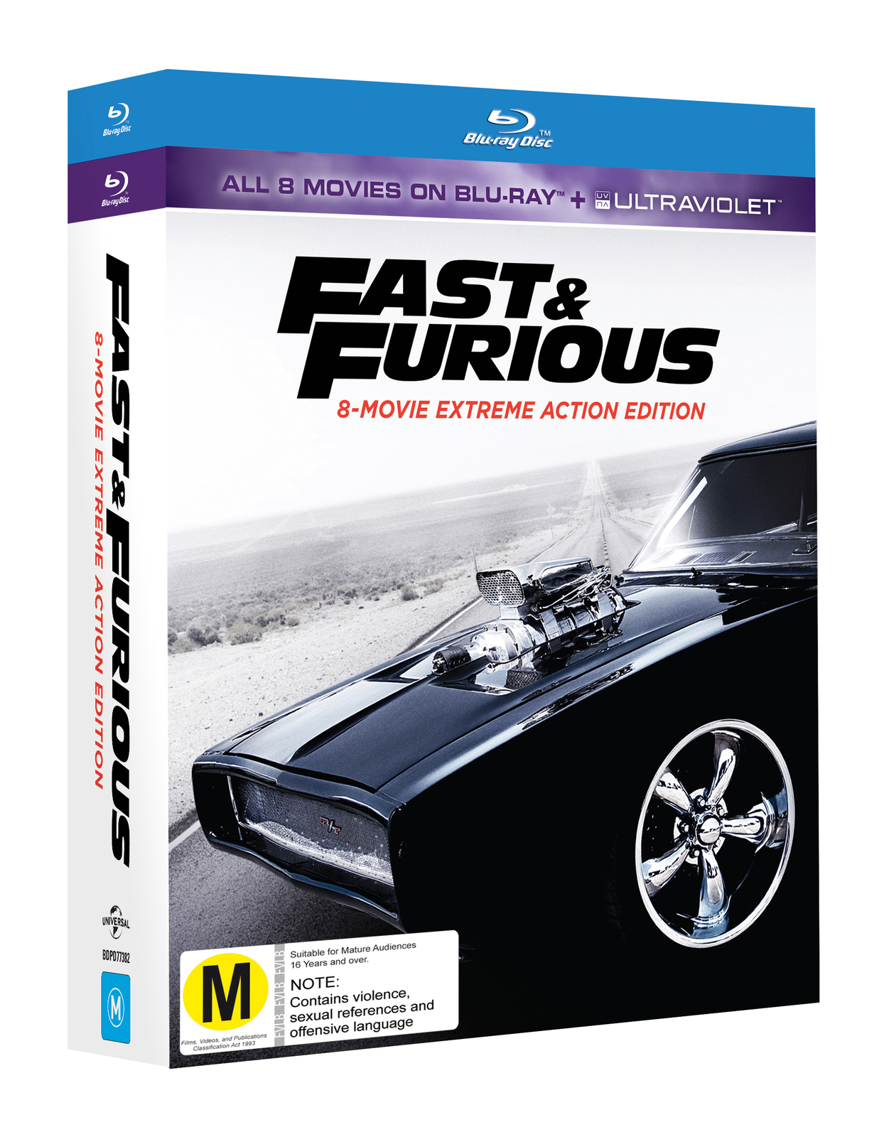 fast furious 8 movie collection blu ray buy now at mighty ape nz. Black Bedroom Furniture Sets. Home Design Ideas